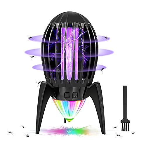 Lámpara Antimosquitos Eléctrico, Asesino de Mosquitos UV Luz LED 2 en 1, Lampara Antimosquitos para Insectos, Moscas, Polillas, para Dormitorio, Salón, Cocina, Jardín