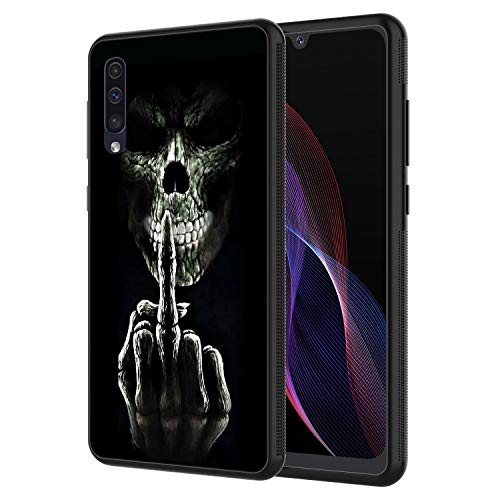 Galaxy A30 Case, Galaxy A20 Case, AIRWEE Slim Shockproof Silicone TPU Back Protective Cover Case for Samsung Galaxy A30/A20,Fuk You Skulls