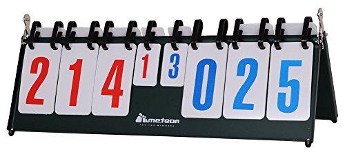meteor Anzeigetafel Score Flipper Flip-Tisch Scoring Board Tragbare Durable multifunktionale Sport Spiele Volleyball Basketball Tischtennis (1-30 Punkte) (1-999 Points)