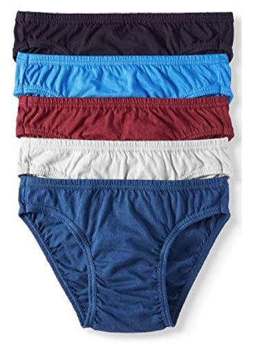 Jockey Life 5-Pack Men's 24/7 Comfort 100% Cotton Bikinis - Assorted Colors (L)