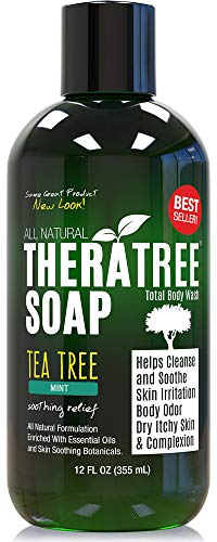 TheraTree Tea Tree Oil Soap with Neem Oil - 12oz - Helps Skin Irritation, Body Odor, Helps Restore Healthy...