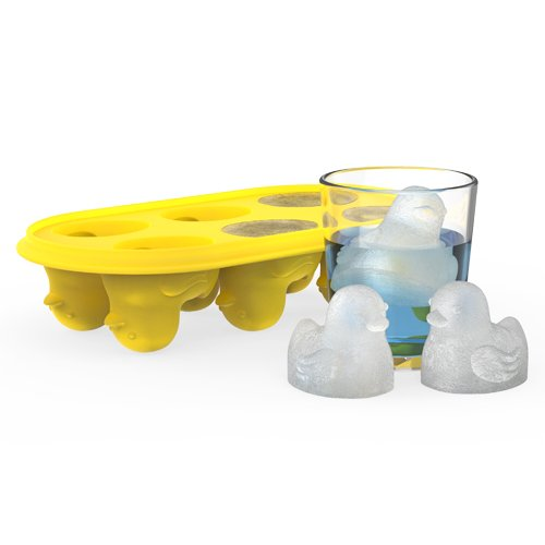 True Zoo 3328 Silicone Ice Cube Tray, Quack the Ice Tray, Yellow, Set of 1