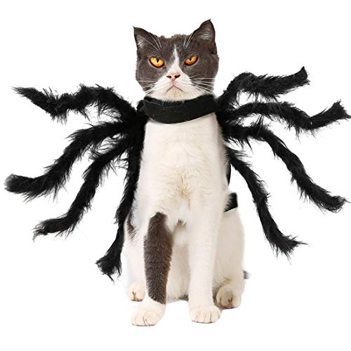 N / A Disfraces De Halloween del Perro, Mascota Araña Felpa La Ropa del Traje para Perros y Gatos Pequeños Trajes De Disfraces De Halloween del Perro