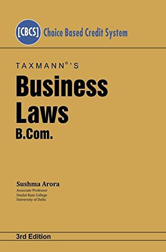Business Laws-B.Com (CBCS)