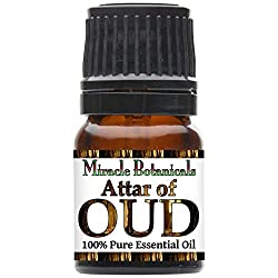 Miracle Botanicals Attar of Oud Essential Oil - Therapeutic Grade - 2.5ml - Agarwood, Sandalwood, Aquilaria Crassna