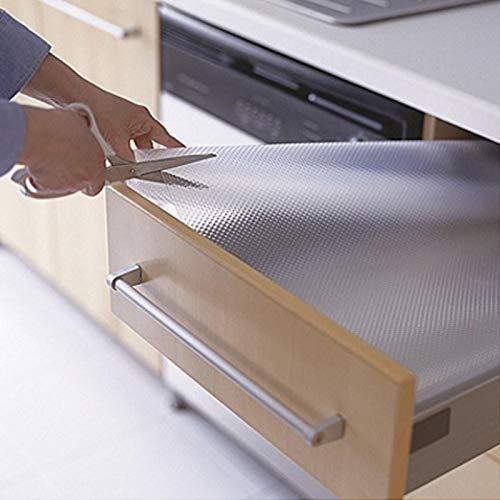 Alfombrilla transparente para cajón de cocina, protector de mesa, antideslizante, se utiliza como mantel individual, posavasos, mesa y mesa