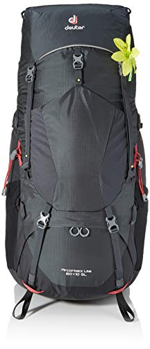 Deuter Aircontact Lite 60+10 SL Backpacking Pack, Graphite/Black