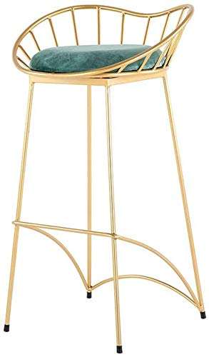 LJBXDCZ NJ barkruk metaal barkruk groen velvet bekleed stoel keuken eetkamerstoelen |Pub | Bistro Teller barkrukken