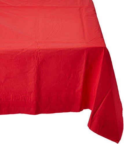 Apple rood papieren tafelkleed 137 cm x 274 cm