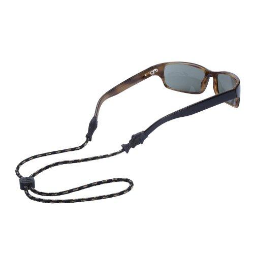 Chums Fish Tip 3mm Rope Eyewear Retainer, Black