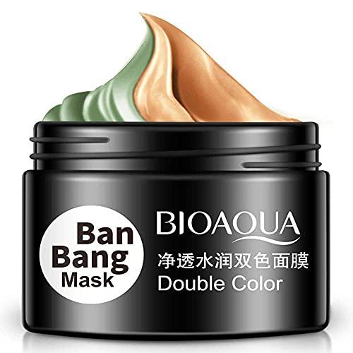 Refrescante Limpio Hidratación profunda Máscara de película de barro verde Líneas de la frente Acné Piel apretada Poros sucios Piel seca Doble color 50g + 50g