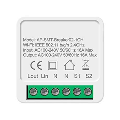 Función de sincronización de Control Remoto de Voz de Control Dual Oculto WiFi Inteligente 16A (Blanco)