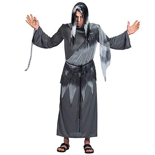 Halloween de Muerte Traje Adulto de Cosplay del ángel Guerrero Muerte Larga túnica Disfraces de Horror A Granel Ropa de Mujer,M