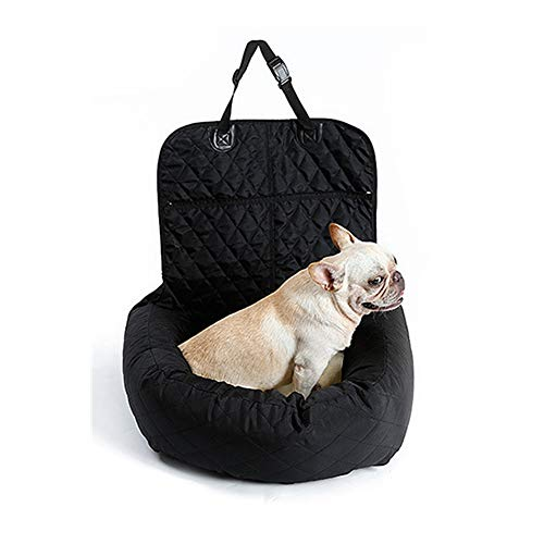 NBRTT Dog Car Booster Seat, Waterproof Bite Resistant Puppies Dog Travel Bed, Cat Automotive Bed Mat, Removable And Washable Cotton Pet Dog Double-Sided Usable Pad