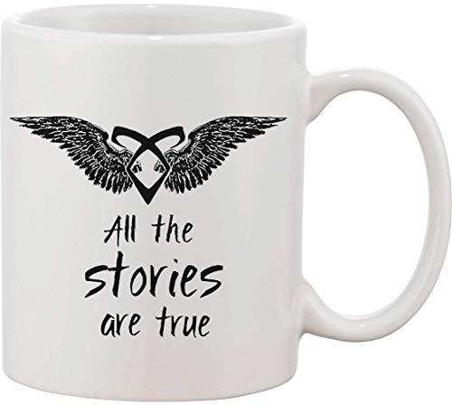 All Stories are True - Taza de cerámica con cita