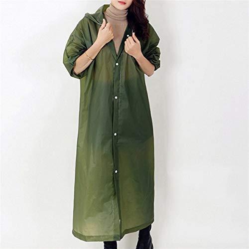 PTY Impermeable Portátil EVA Lluvia Coats Reutilizable Lluvia Poncho con Capucha y Mangas de Manguito elástico (Color : Brown)