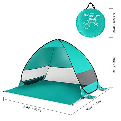 1-2 Personas Carpa De Playa Al Aire Libre Pop-Up Pop-Up Camping Tienda De Pesca PortáTil Resistente Al Agua Y ProteccióN UV