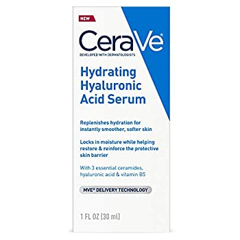 Cerave Hyaluronic Acid Serum for Face with Vitamin B5 and Ceramides | Hydrating Face Serum for Dry Skin | Fragrance Free | 1 Ounce