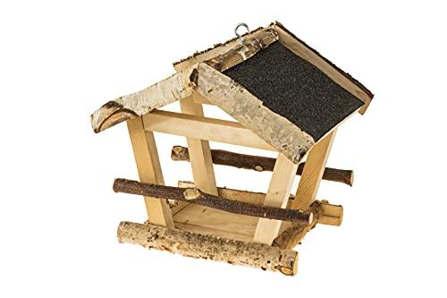 Vogelhaus wetterfest aus Holz, vogelfutterhaus, Futterhaus, Futterstation für Wildvögel, Vogelfutterhaus zum Stellen für den Garten, Balkon ,Zaun or Schuppen