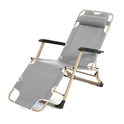 SogesHome Lounge Chair Liegestuhl Sun Chair Klappstuhl Garden Chair, grau SH-CT-F02G