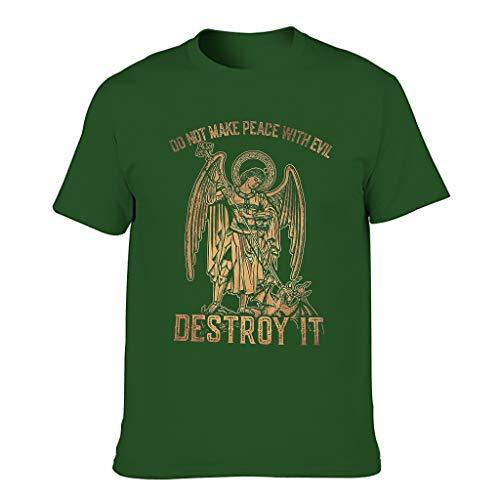 Camiseta para hombre con diseño de la paz y texto en alemán Dark Green001. XXXXL