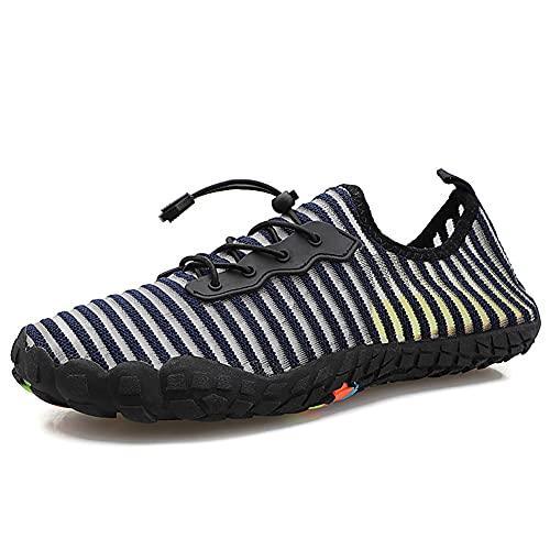 Parcclle Zapatillas de natación para hombre y mujer, zapatos de playa, surf, para el agua, para deportes acuáticos 3099