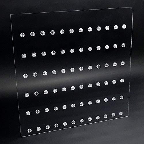 Einleger für 50 x 50 Ribba Rahmen Vitrine für Lego® Serien Platz für 72 Figuren