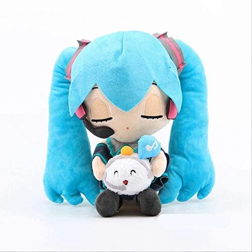 NC88 Anime Hatsune Plush Toys Cartoon Cute Stuffed Doll Pillow Home Car Sofa Decoration Kids Gift Miku-28cm