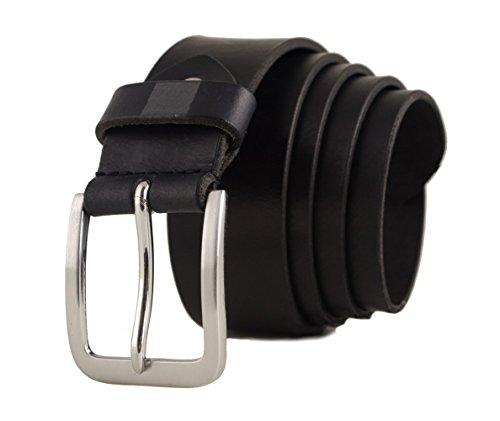 Zerimar Cinturón Piel de Hombre | 4 cm Ancho | Cinturón Hombre Cuero | Cinturón Hombre Hebilla | Cinturon de Cuero