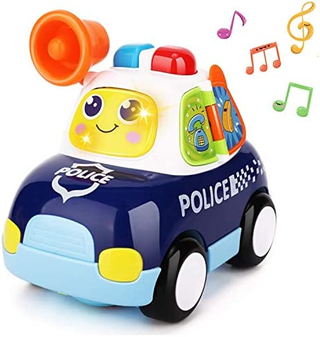 Yiosion Musical Police Car Pursuit Rescue Vehicle Interactive Action Educational Learning Walking product image