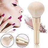 WUYANSE - Brocha para Maquillaje en Polvo de cerdas de Nailon, Color Blanco y Dorado