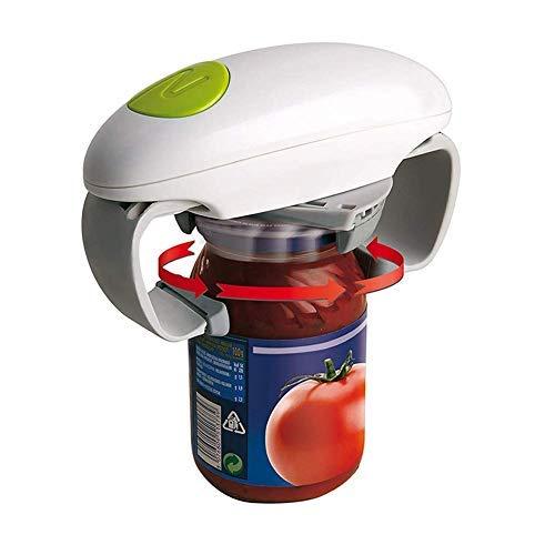 Ouvre-bocal automatique One Touch - Outil d'ouverture de boîte facile et réglable - Accessoire de cuisine multifonction idéal pour les personnes âgées souffrant d'arthrite