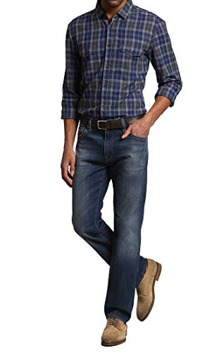 34 Heritage Men's Courage Mid-Rise Straight Leg Jeans, Mid Vintage, 32 x 32