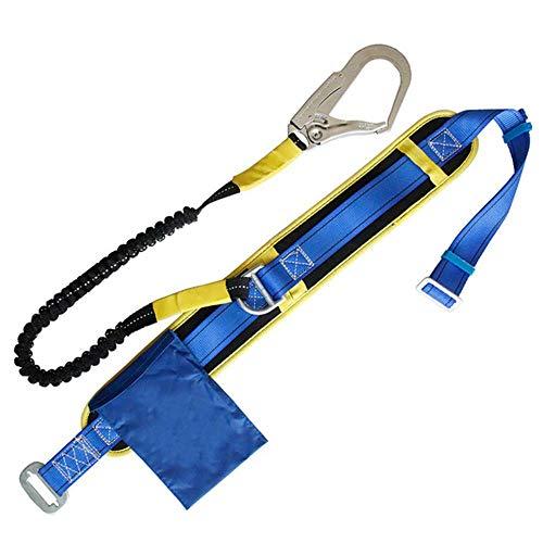 ZWWZ Alpinismo al Aire Libre de la Cintura de la Correa del cinturón de Seguridad del Electricista Polo poliéster Cinta con Forma de cinturón de Seguridad retráctil Cuerda elástico 1.2M HAIKE