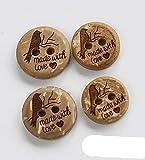 50 unids/lote Tamaño: 11-23 mm Vintage Botones de coco natural 2 agujeros Patrón de estilo de pájaro Accesorios de costura (ss-701) -11 mm