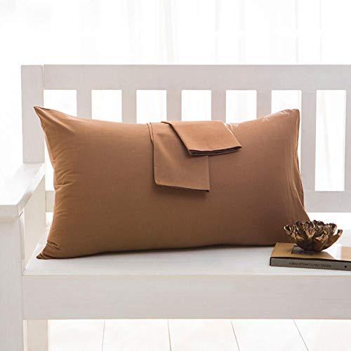 HNLHLY Funda de Almohada de algodón Funda de Almohada de Color Puro Ropa de Cama Múltiples tamaños Disponibles, 1pcs-C_53x102cm