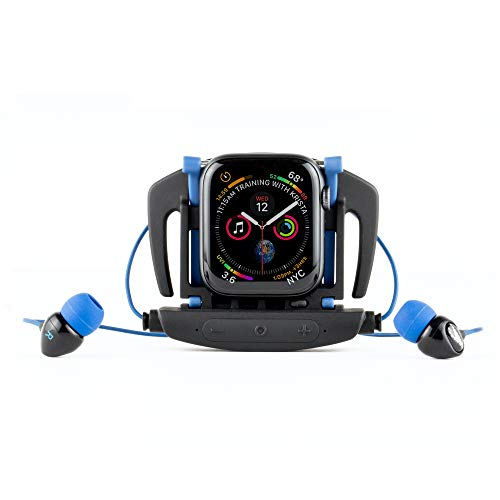 H2O Audio Interval Swim Headphones for Apple Watch Series 2, 3, 4, 5, 6 Waterproof IPX8, in-Ear Stereo Earbuds, Noise Cancelling, No Drag Short Cord, Great for Swimming, Running and Sports Activities