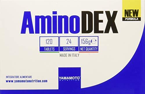 Yamamoto Nutrition AminoDEX integratore di aminoacidi essenziali di origine vegetale 120 compresse