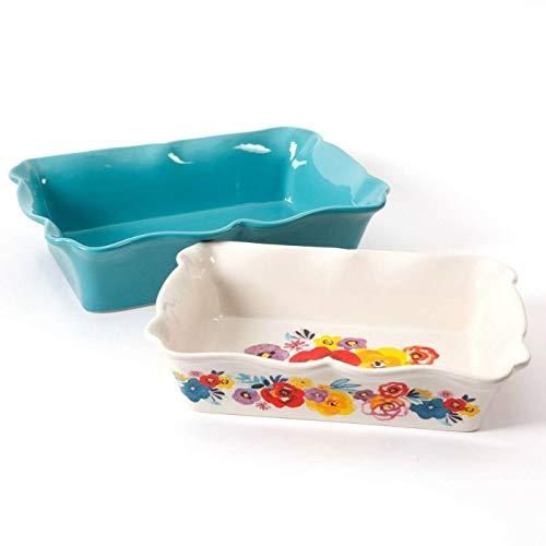 The 2-Piece Rectangular Ruffle Top Ceramic Bakeware Set Baking provides Kitchen equipment Cookie sheet Dish set Baking pan Bakeware units Muffin pan Cake pan Baking pans Kitchen necessities Baking set