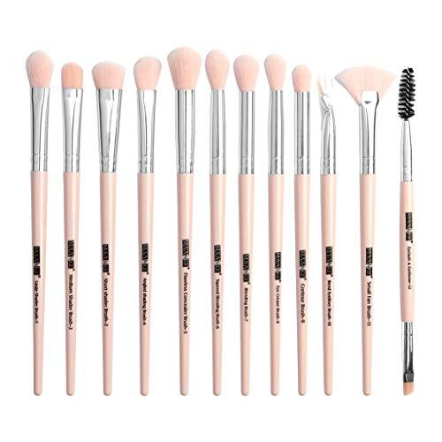 Pinceaux Maquillage 12Pcs Pinceau De Maquillage Ensemble Fond De Teint Blush Fard à PaupièRes Visage Poudre Pinceau De Maquillage