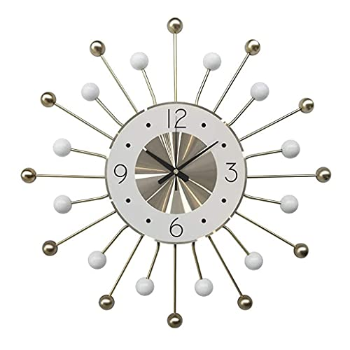 AIOJY Relojes para La Sala De Estar Arte Relojes De Pared De Metal, Relojes De Pared Modernos con Baterías Silenciosas Sin Tic-TAC