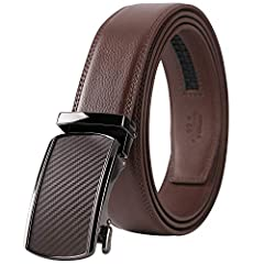 TRIM TO FIT - You can trim the strap length by yourself to fit your size if the belt strap is too long for you. NO MORE HOLES - Lavemi's Fashion Ratchet Belt provides 38 unique adjustments for a superb comfortable fit. Easy removable buckle allows yo...