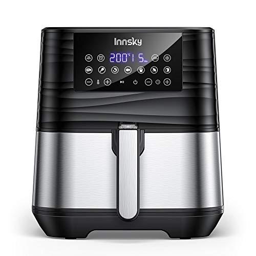 Innsky 5,5L XXL Friteuse sans huile en acier inoxydable avec écran LCD numérique, 7 programmes,...