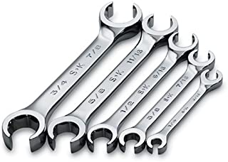 SK 386 SuperKrome 1/4-to-7/8-Inch 15-Degree 6-Point Offset Flare Nut Wrench Set, 5-Piece