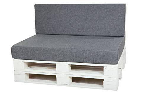 KRUGER - Gartenmöbel-Kissen in Grau, Größe Cushion:60x40cm