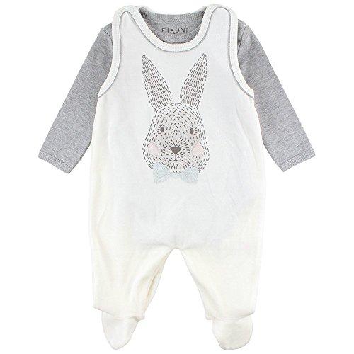 Fixoni Future Suitset Grenouillère, Beige (00-31 Off White 00-31 Off White), 3 Mois Mixte bébé