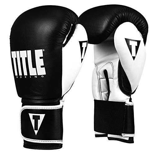 Title Boxing Dynamic Strike Heavy Bag Gloves, Black/White, 16 oz