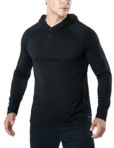 (テスラ)TESLA 長袖 Tシャツ ドライ スポーツシャツ メンズ [UVカット・吸汗速乾] アクティブ 機能性 ランニングウェア MTL56-BLK_L