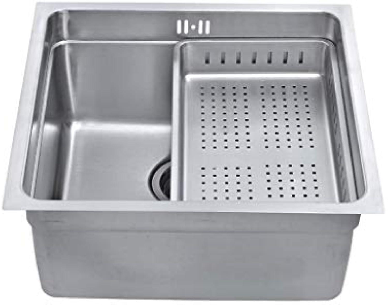 Poliert Balkon küchenspülen rund Edelstahl waschbecken runde waschbar waschbecken mit zubehr einzigen Küchenspülen 0609 (Farbe   440 x 440mm)