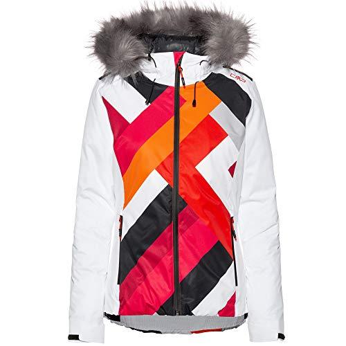 CMP Damen Skijacke Jacke, Bianco, 38